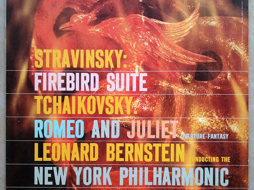 Columbia 2-eye/Bernstein/Stravinsky - Firebird, Tchaikovsky Romeo and Juliet / EX