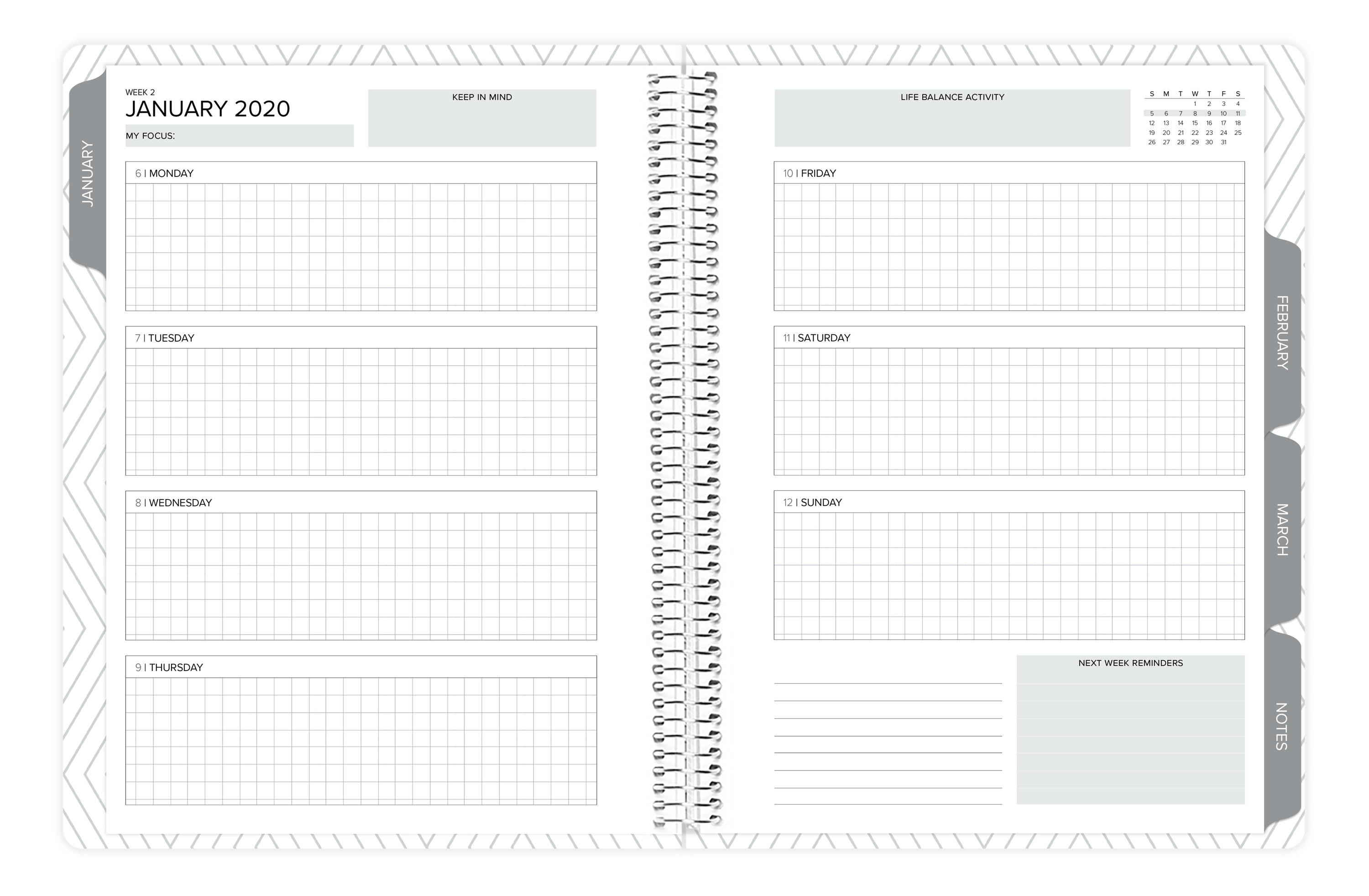 Amplify Planner Weekly Layout Digital Download