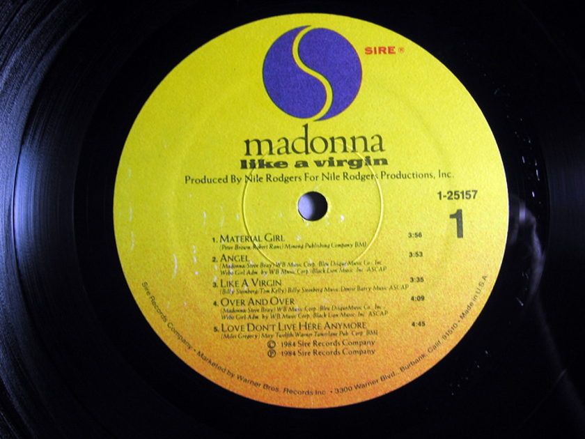 Madonna -  Like A Virgin - 1984 MASTREDISK RL HOT PRESS 1984 SIRE Records 1-25157