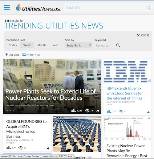 Utilities Newscast Screenshot