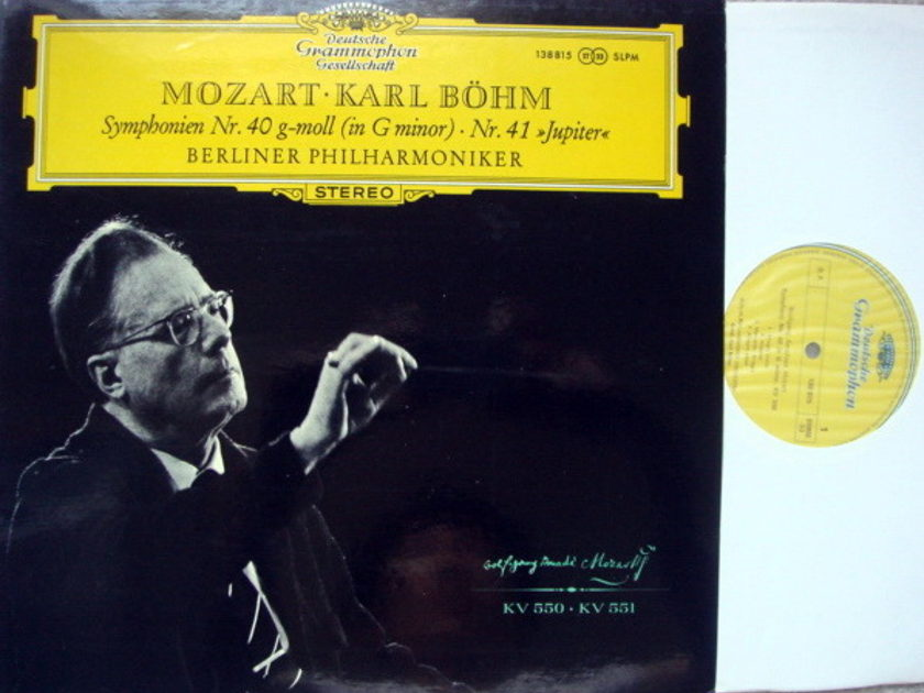 DGG / Mozart Symphonies No.40 & 41 Jupiter, - BOHM/BPO, MINT!