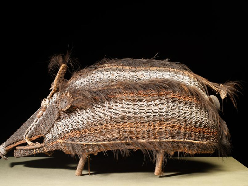 Basketry Figure of a Wild Pig, emuseum: 77.1034