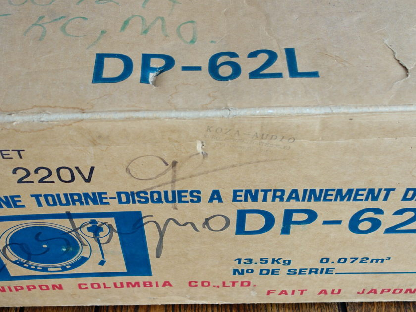 Denon DP-62L EP(Dual Voltage) in Box with all Accessories, Packaging and