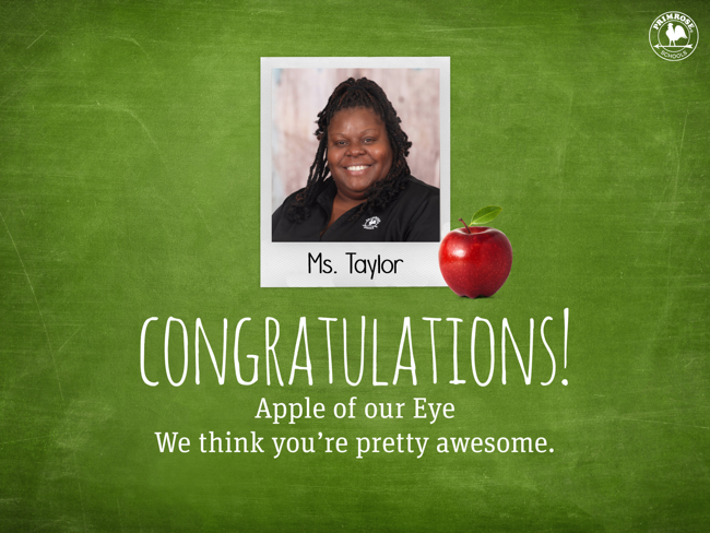 Ms Taylor Apple of our Eye