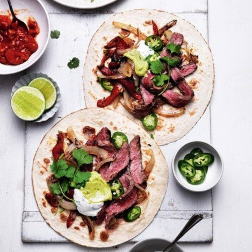 Speedy Steak Fajitas from delicious magazine