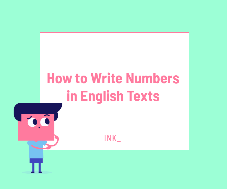 How to write numbers in english texts