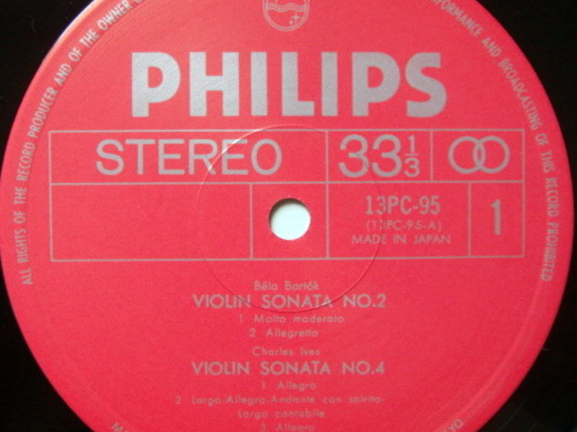 ★Audiophile★ Japan Philips / SZIGETI,  - Bartok-Ives-Debussy-Honegger Violin Sonatas, NM!