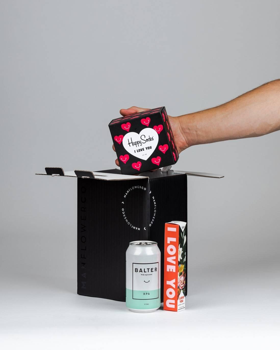 V-Day Happy Socks, part of Manflower Co's range of Valentine's Day Gifts.