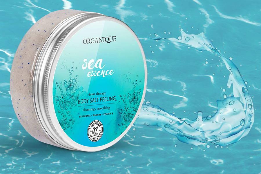 Revitalizing Sea Essence Body Salt Peeling 200ml Organique natural cosmetics