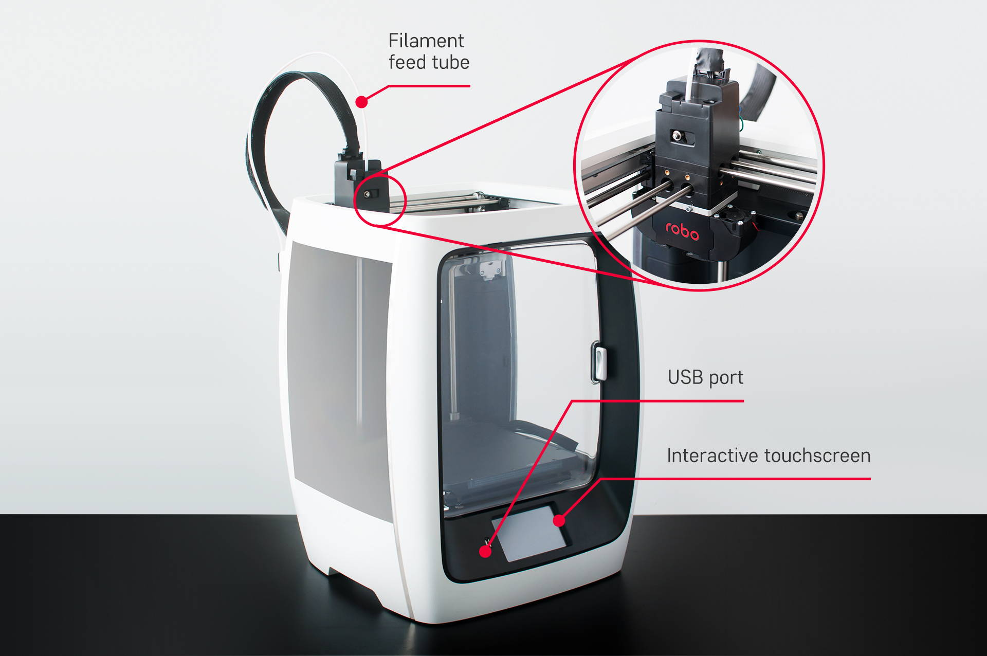 anatomy of the robo r2 3d printer robo 3d