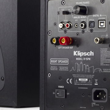 Klipsch R-15PM Powered Speakers with Bluetooth