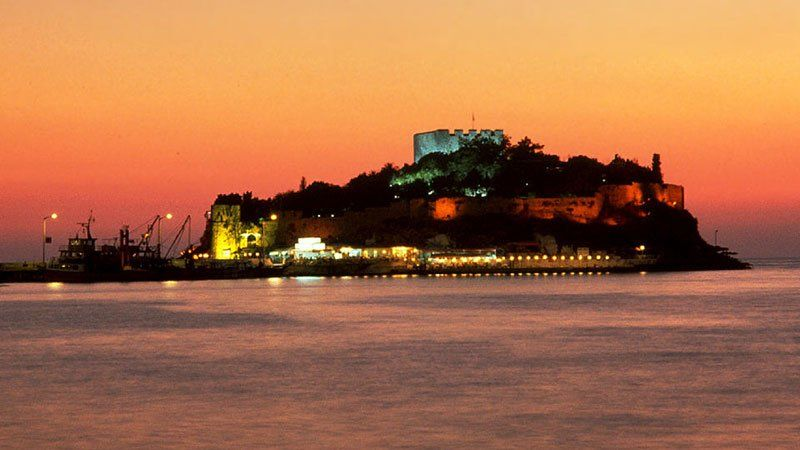 Kusadasi at sunset, Turkey