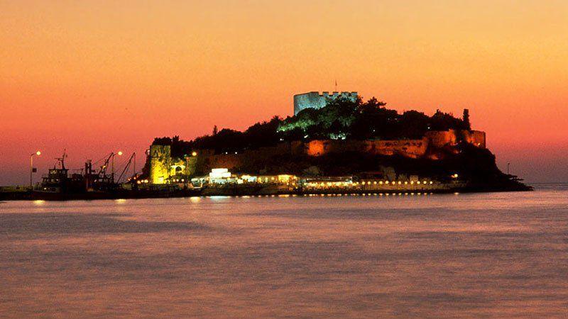 Kusadasi at sunset, Turkey