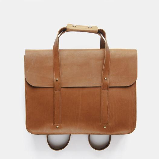 Кожаный портфель большой Brown Sugar