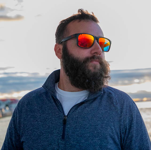 Nate enjoys a cool day on the boat in his Coopers sunglasses in thermal and gunmetal.