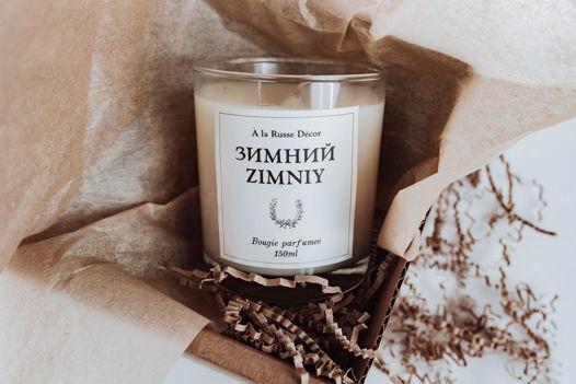 """Свеча в стеклянном стакане """"Зимний"""""""