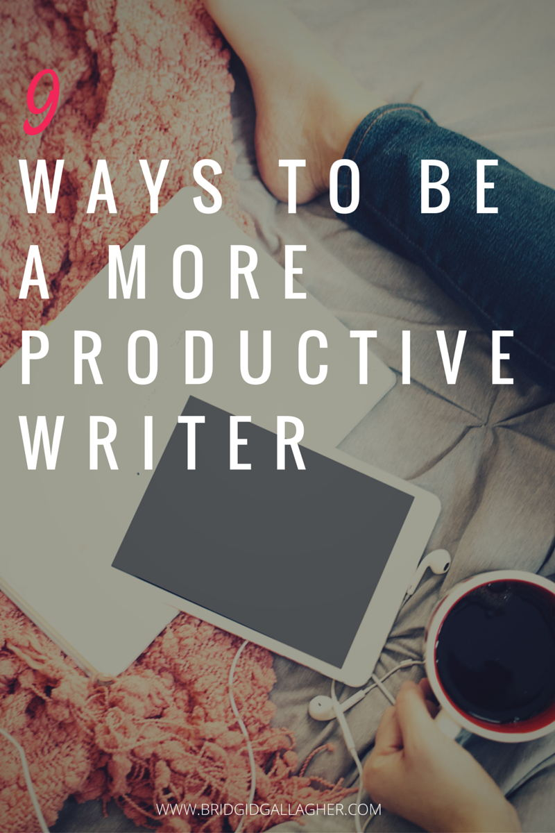 9 Ways to Be a More Productive Writer: Tired of feeling overwhelmed, burned out, and short on time? Today I'm sharing 9 ways to clear distractions so you can focus on your writing goals and get more done. Read the tips on my blog >>>