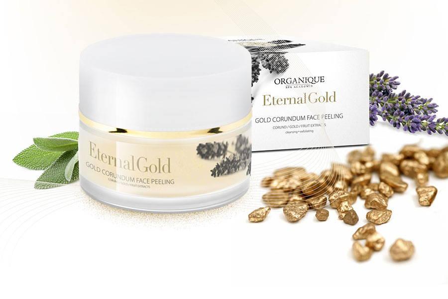 Golden corundum face natural Peeling for mature skin