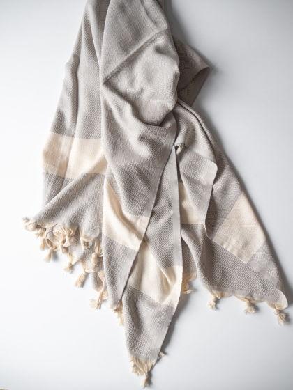 Полотенце из хлопка Jacquard Grey