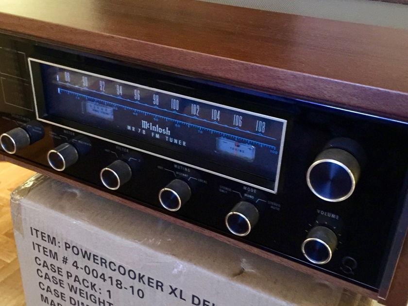 McIntosh MR-78 fM Tuner Including Wooden Cabinet/ McIntosh MR-78