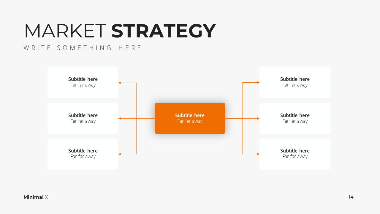 Modern X Marketing Plan Presentation Template Market Strategy