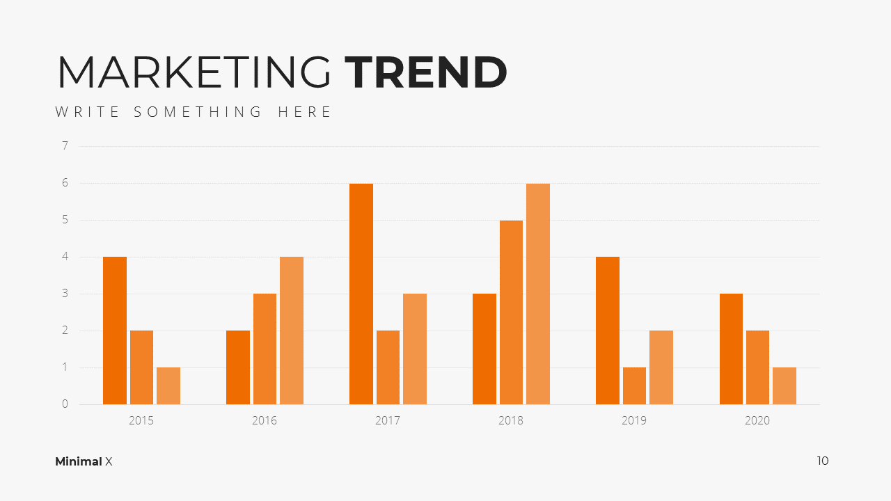 Minimal X Marketing Plan Presentation Template Market Trend
