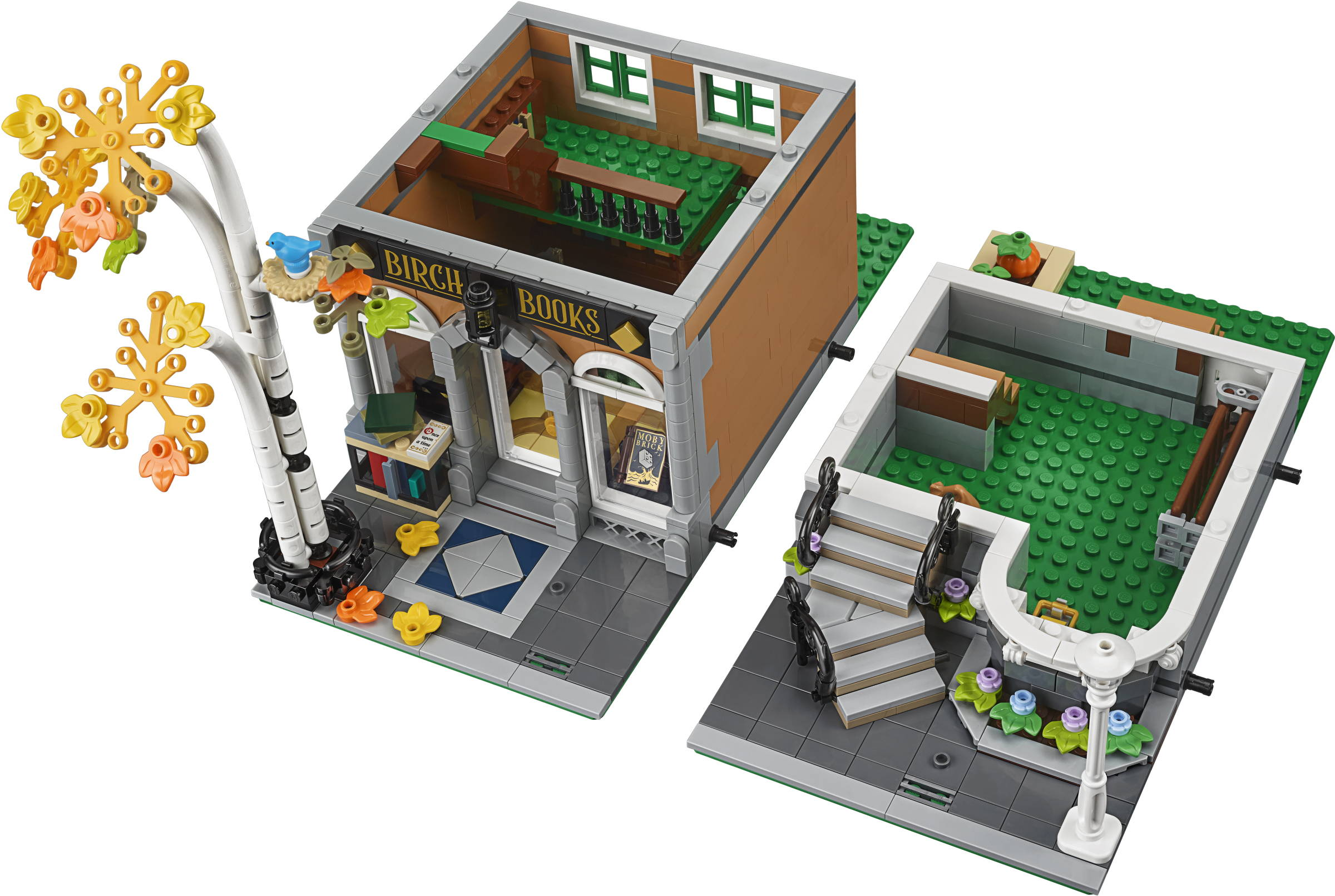 lego bookshop interior