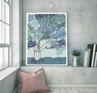 """Постер """"Воздушное дерево"""""""