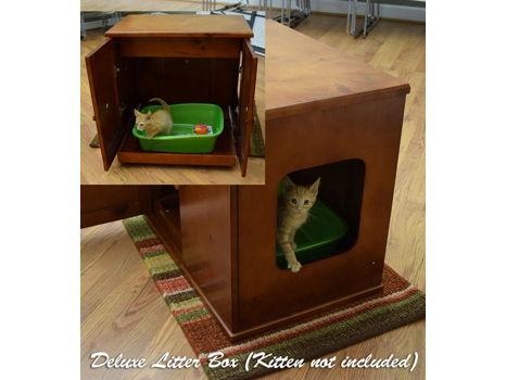 Litter Box Cabinet for the Refined Feline