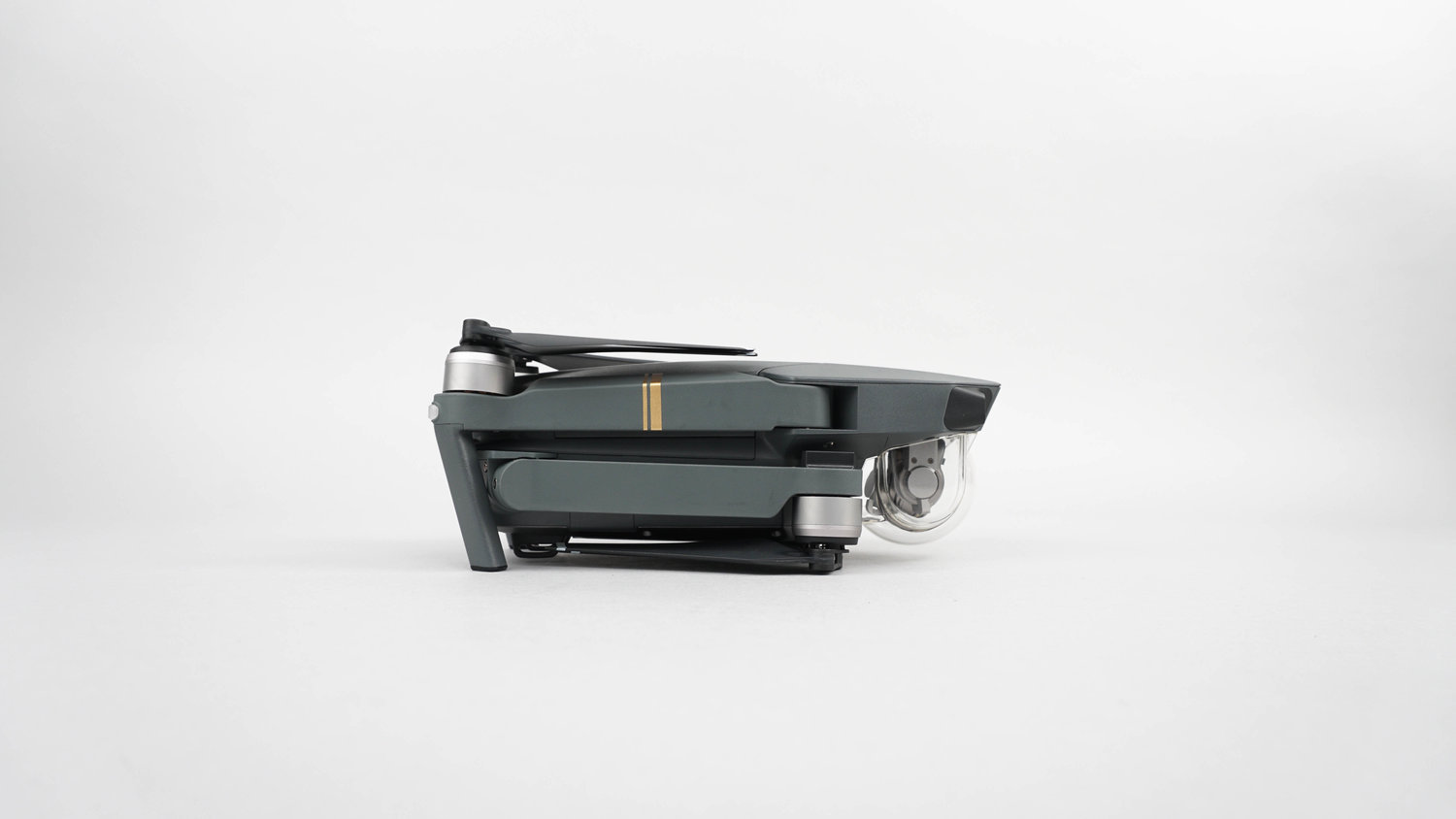 The Mavic can be folded down to fit in the palm of your hand