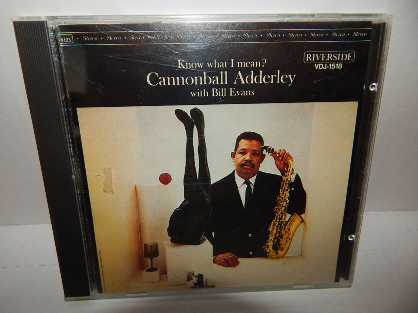 CANNOBALL ADDERLEY Bill Evans - Know What I Mean? Japan Import 1985 Riverside  VDJ-1518 1P CD NM