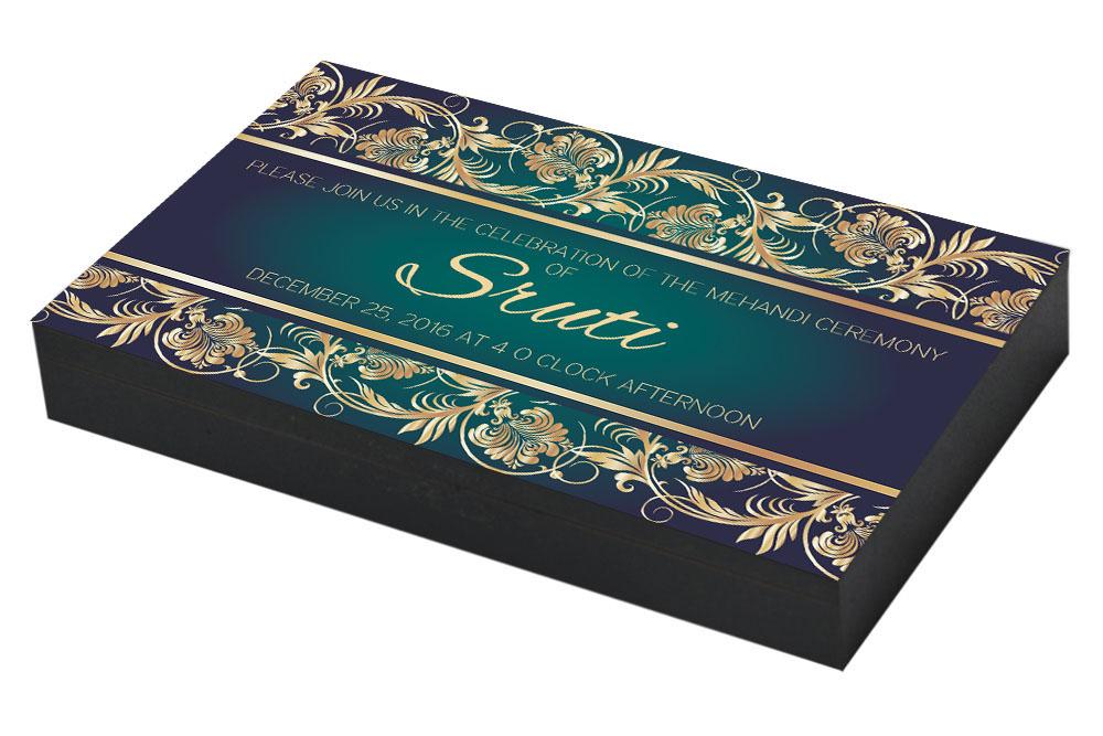 Mehndi Ceremony Cards : Mehndi invitation u2013 chococraft