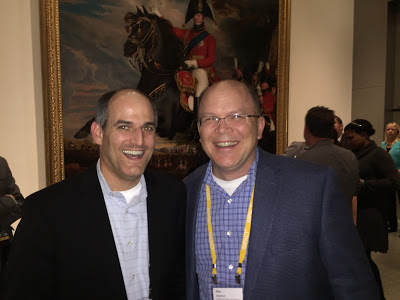 Schwab's Brian Shenson with Ken Severud of Wealth Enhancement Group at the Museum of Fine Art party.
