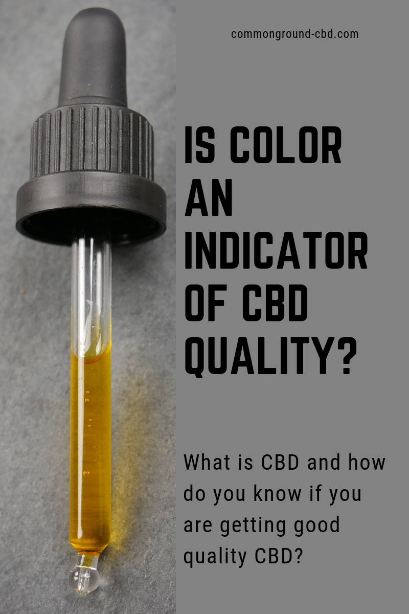 Is Color An Indicator of CBD?