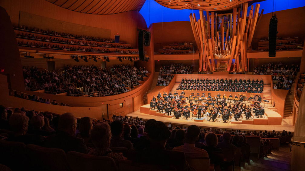 Gustavo Dudamel and the Los Angeles Philharmonic performing live at Walt Disney Concert Hall