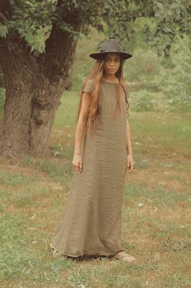 Льняное платье  макси