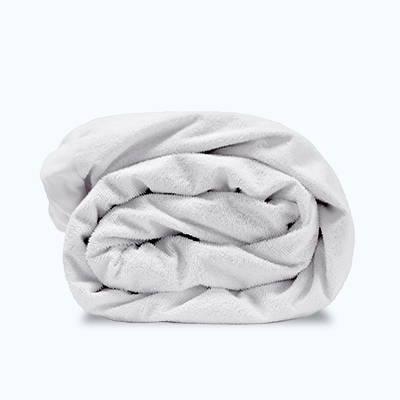 sleep zone bedding mattress protector white  folded roll