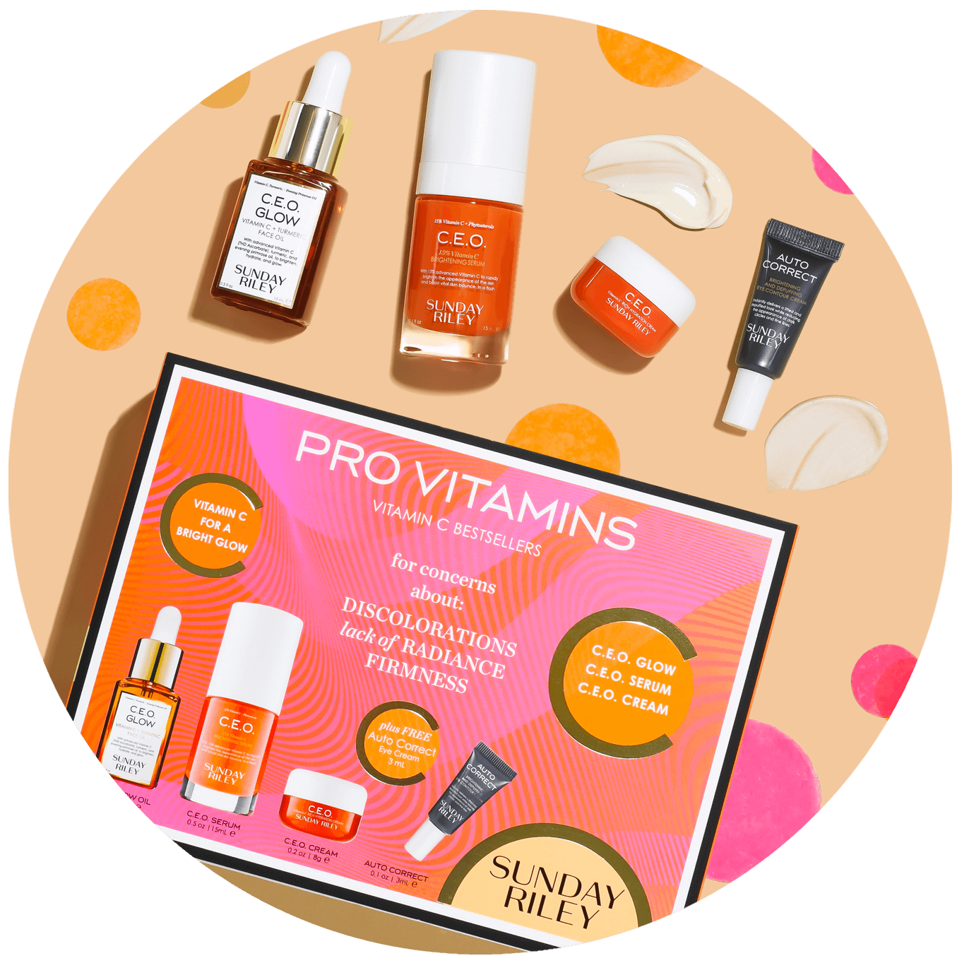 pro vitamins vitamin c bestsellers kit, for concerns about discolorations, lack of radiance, firmness