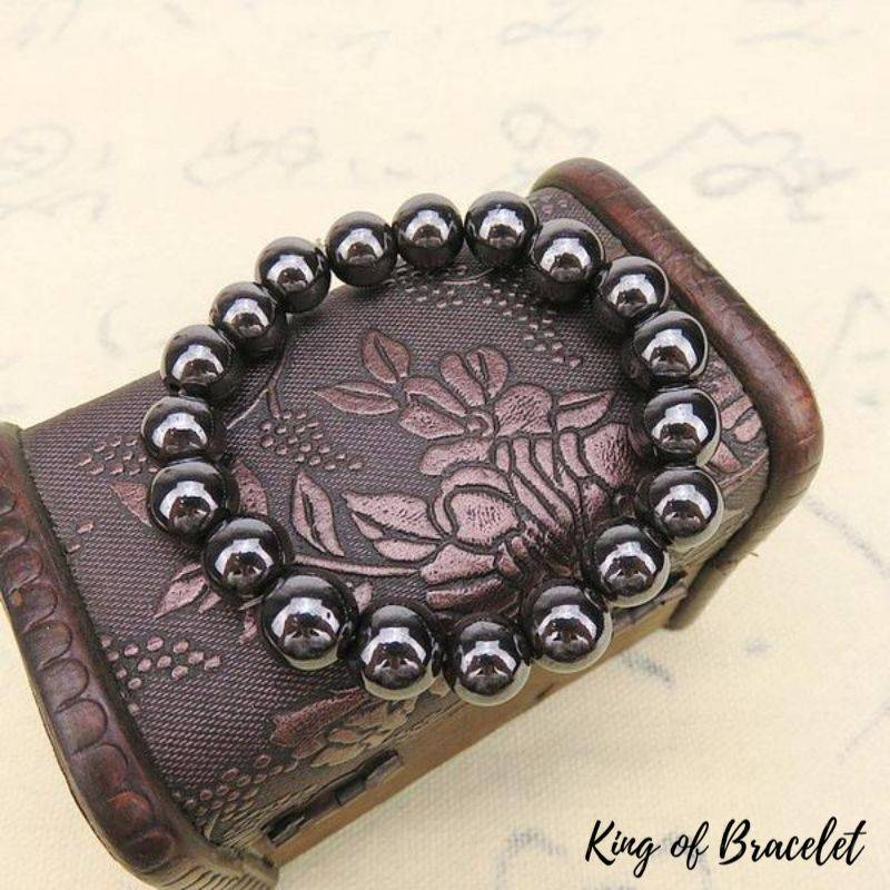 Bracelet de Lithothérapie en Hématite - King of Bracelet