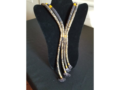 133 Neon Zinn Gold Rope Necklace