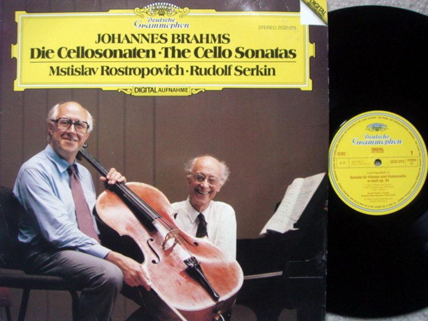 DG Digital / ROSTROPOVICH-SERKIN, - Brahms Cello Sonatas, NM!