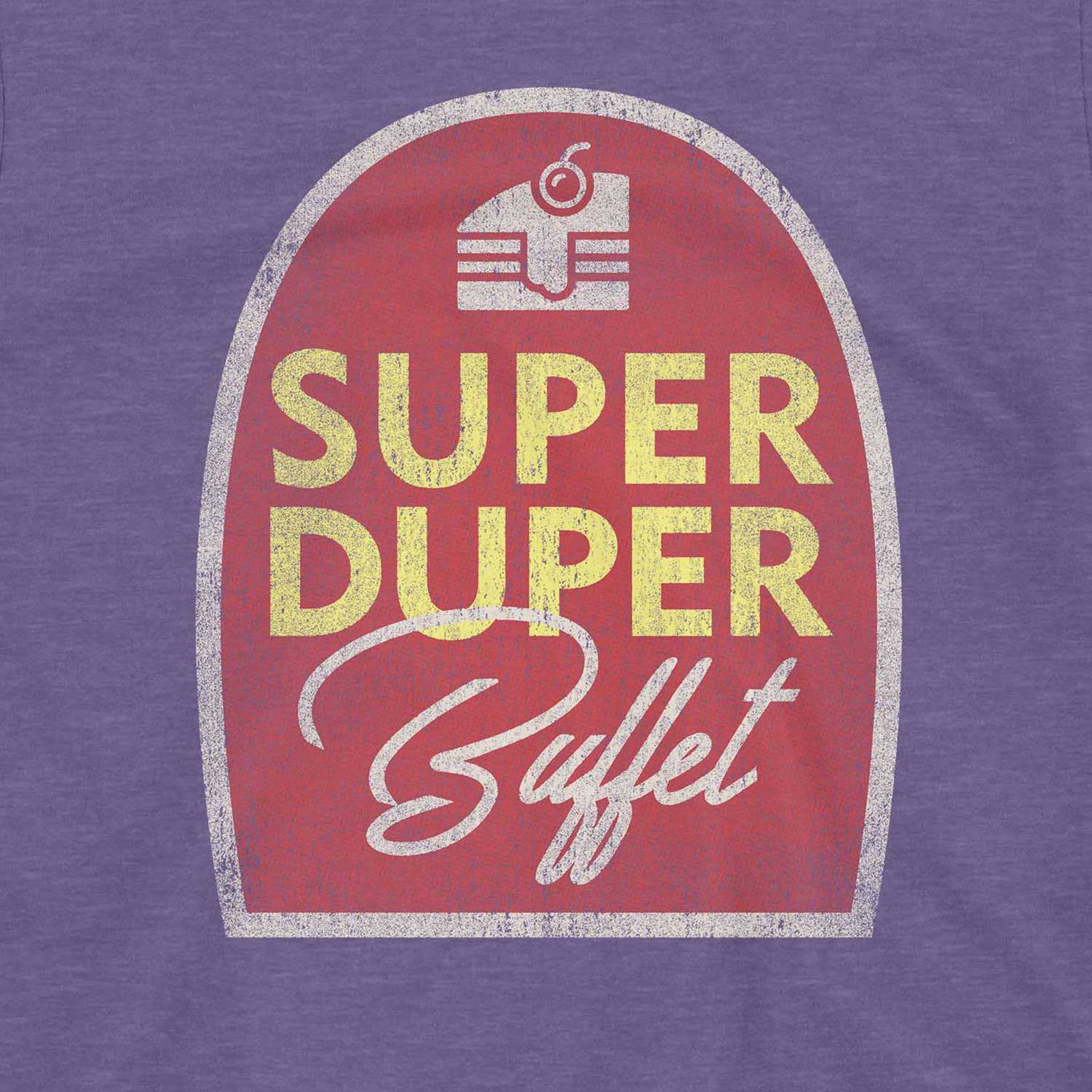 Super Duper Buffet Retro Inspired Unisex Graphic T Shirt