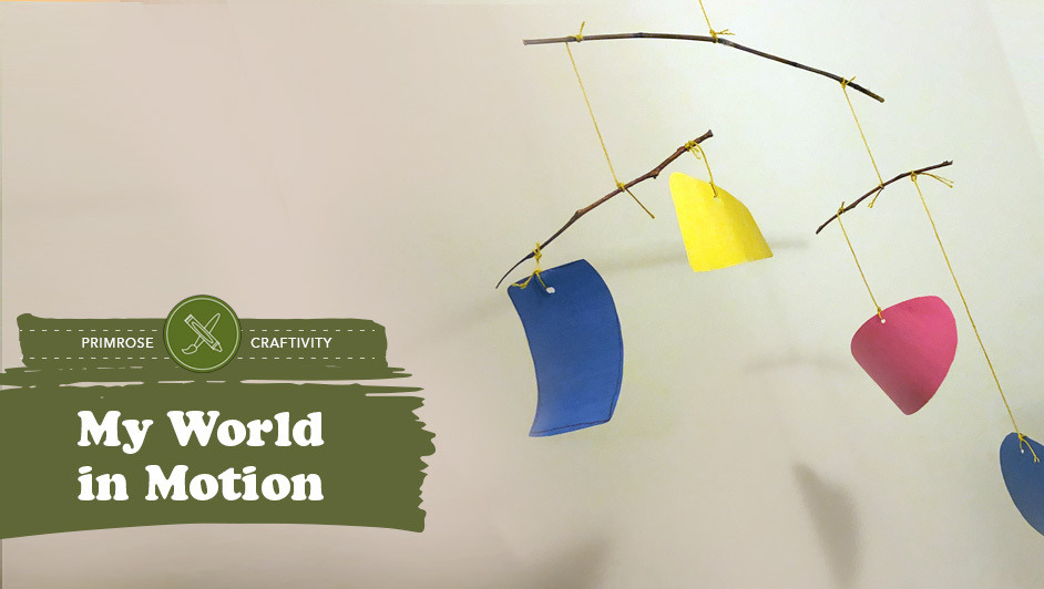 Stick and paper mobile craft