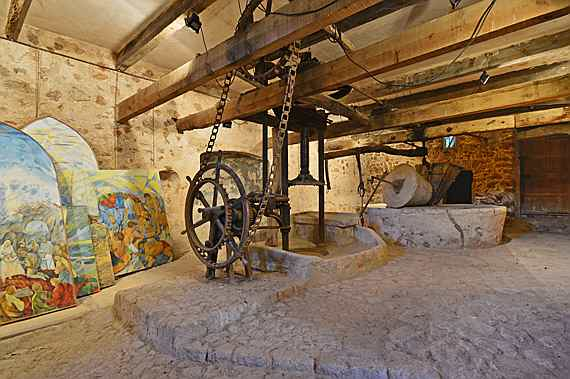 "Llucmajor, Mallorca - Antique oil press ""tafona"" of the Majorcan country estate in Bunyola"