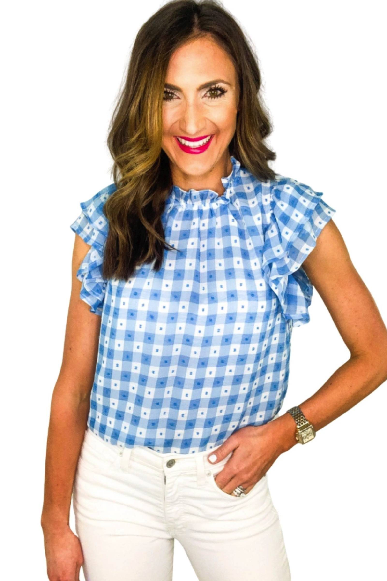shop-style-your-sense-shop-blue-gingham-mock-turtle-neck-top