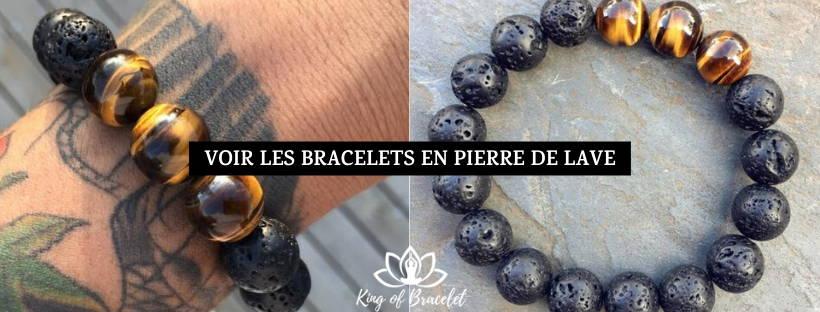 Bracelet en Pierre de Lave et Oeil de Tigre - King of Bracelet