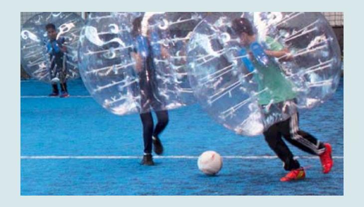 kickerworld berlin bubble ball fußball