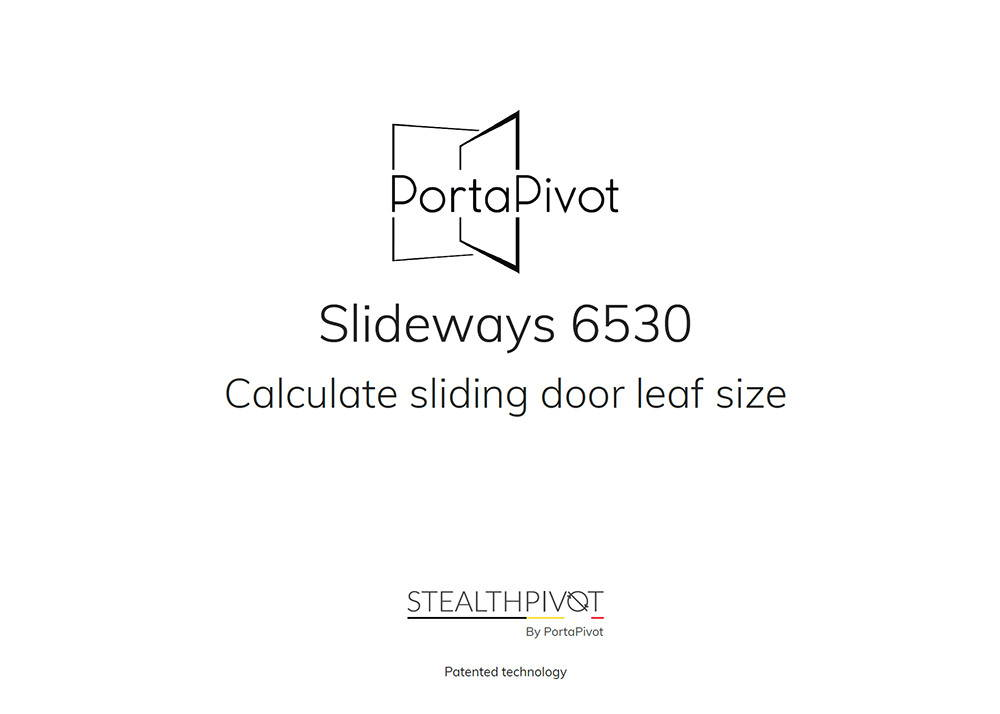 Slideways 6530 how to measure and dimensions
