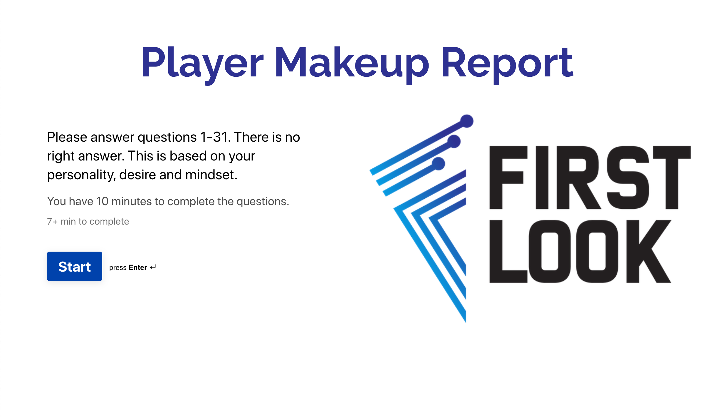Player Makeup Report