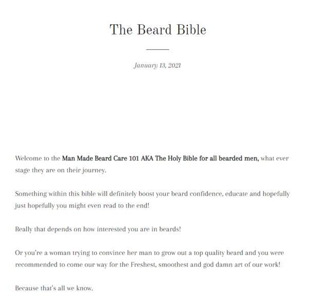 The Man Made Beard Bible